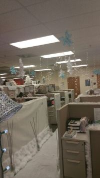 Winter Wonderland | Office Cubicle Decor Contest ...
