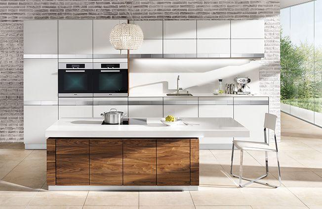 Kombination von Weiß und Holz in der Küche Küchen Pinterest - moderne kuchen weiss holz