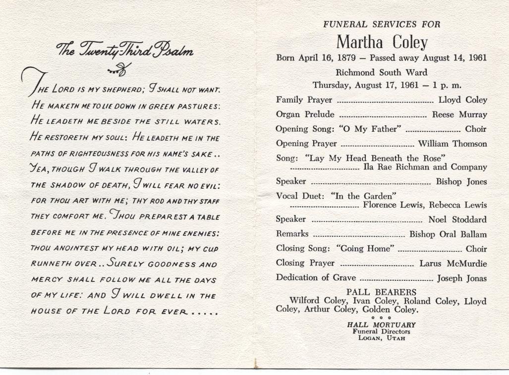 Funeral Program Example Memorial Service Program Examples - program for a funeral