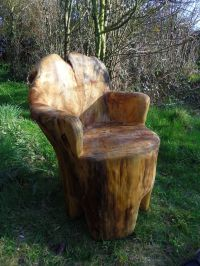 Tree Trunk Chair   Gardens & Yards   Pinterest   Tree ...