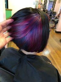 aaashleee : Instagram. Peekaboo color purple hair pravana ...