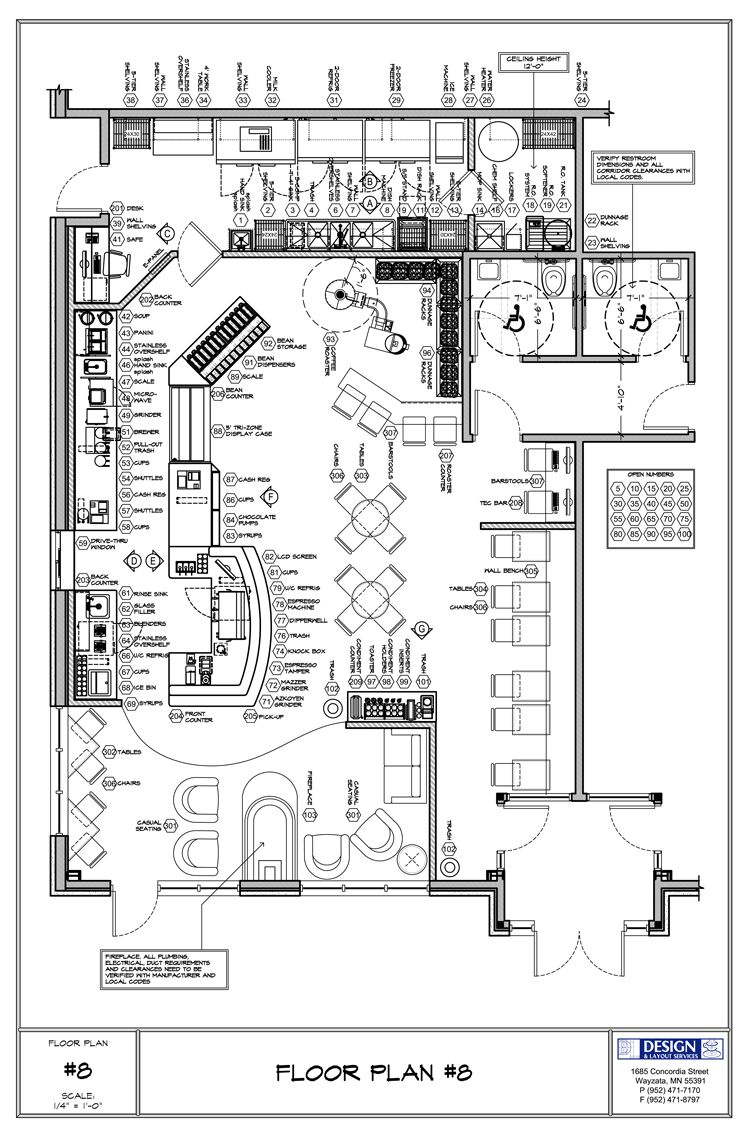 Coffee shop floor plan day care center pinterest