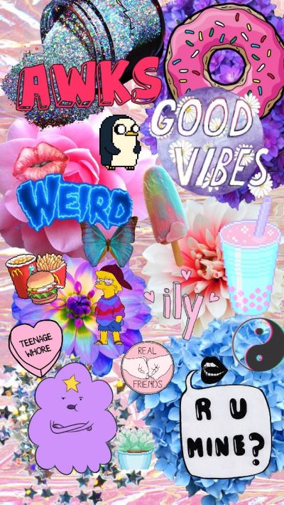 Random collage background for the iPhone (my edit but transparents are from Tumblr) | JUST BEING ...