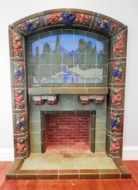 Rookwood Pottery Tile - Fireplace surround - Cincinnati ...