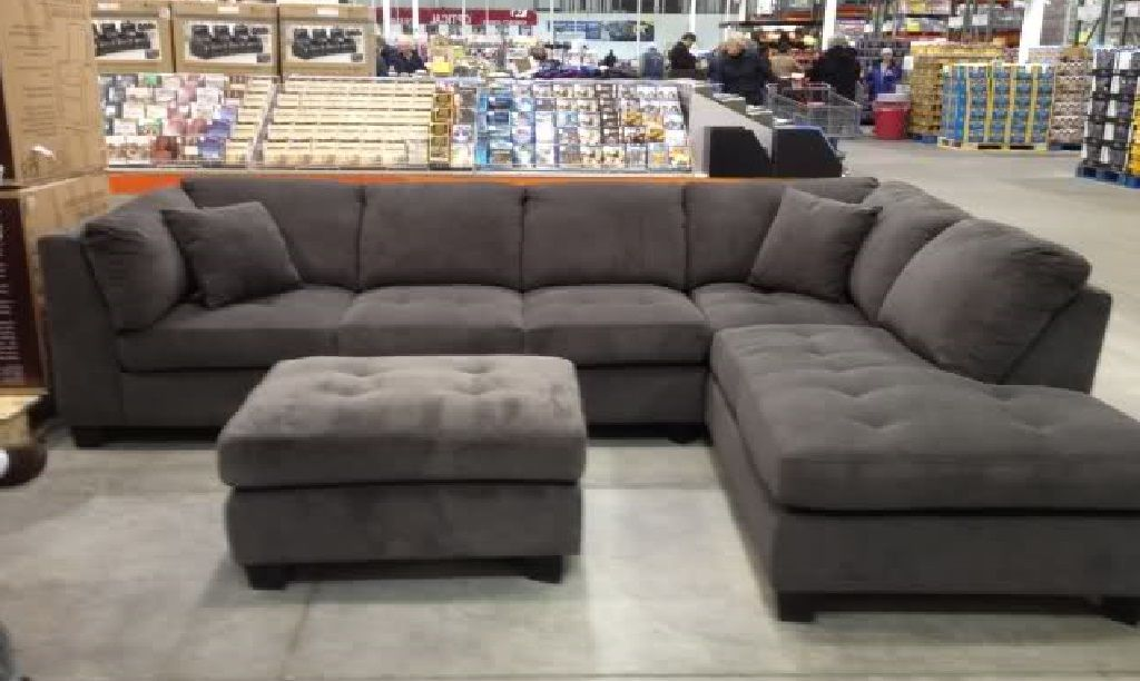 Costco 7-Piece Modular Sectional Sofa in Gray Furniture - 7 piece living room set
