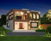 10 Marla Modern Home Design 3D Front Elevation, Lahore ...