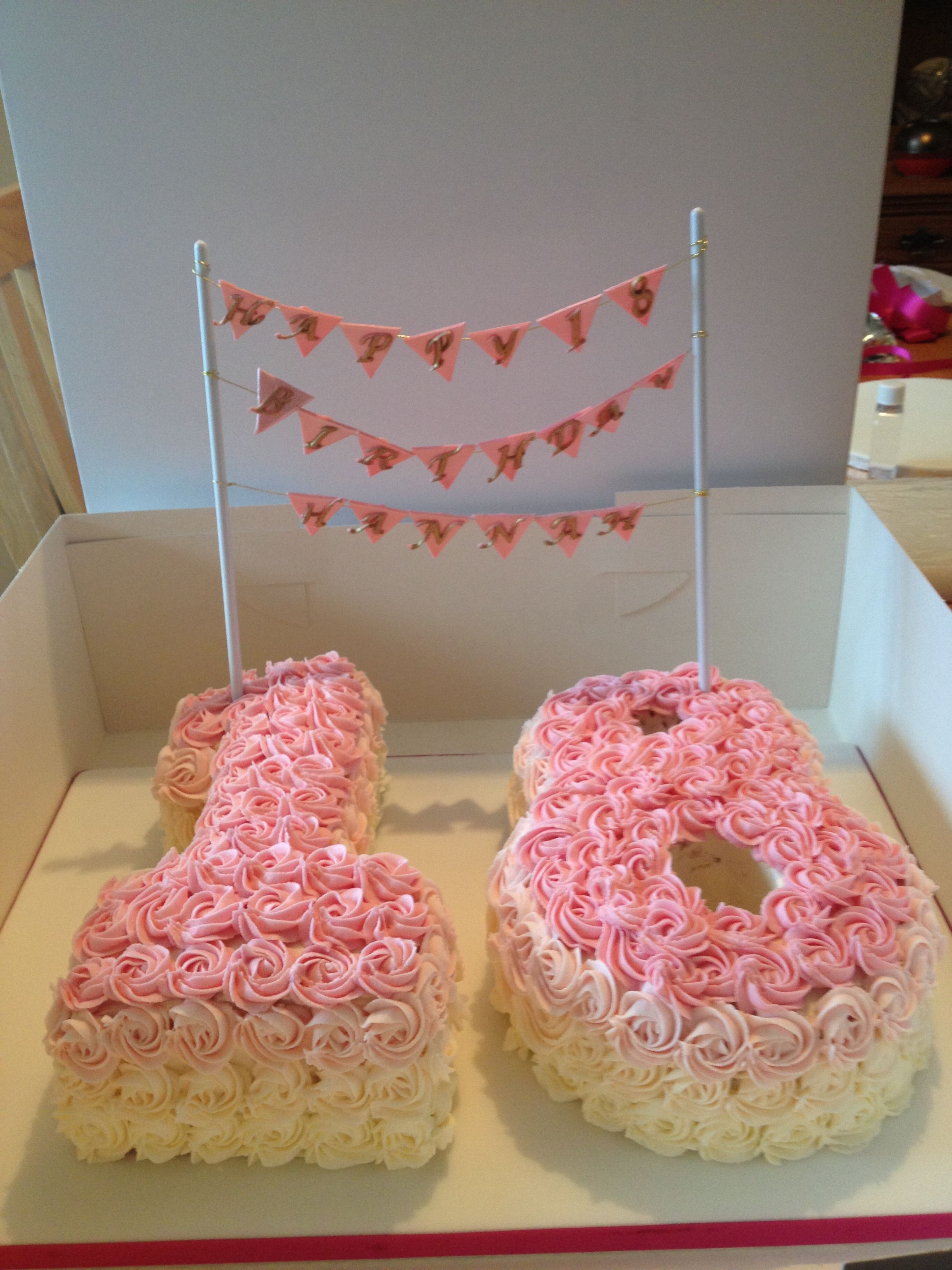 Pinke Küche Deko 18th Birthday Ombré Rose Cake Cute Without The Banner