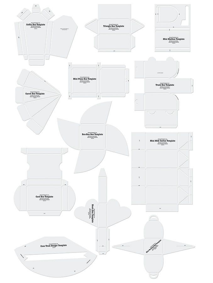 Free Template Many Different Envelopes And Boxes