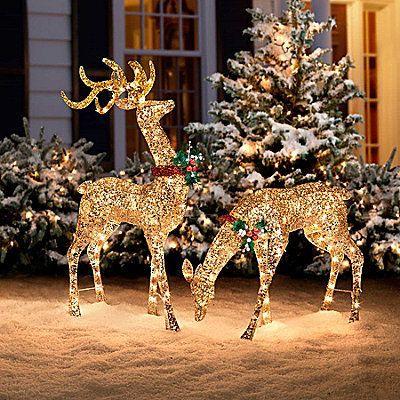 Les cerfs su0027invitent chez vous pour Noël ! - Floriane Lemarié - christmas decorations outside