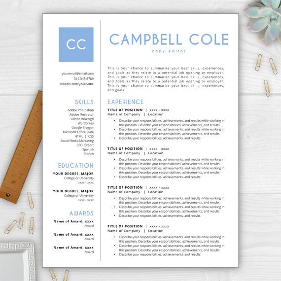 Stand out from the competition with this best-selling résumé - stand out resume templates