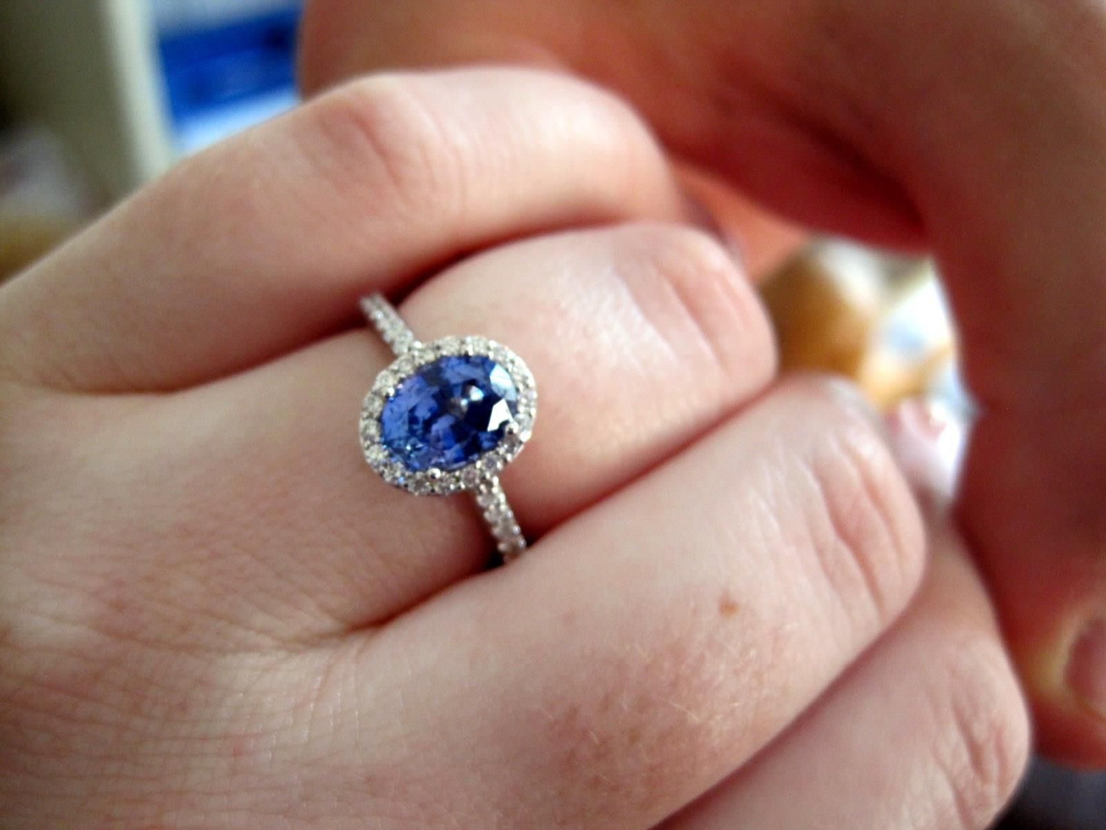 sapphire collection brilliant earth wedding bands Sapphire Fancy Halo Diamond Ring