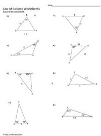 Sin and Cosine Worksheets | Worksheets, Trigonometry and ...