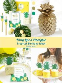 Pineapple Birthday Party Printables Supplies & Decorations ...