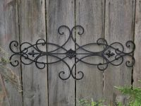 Wrought Iron Wall Deco / Fleur de Lis / Shabby Chic Decor ...