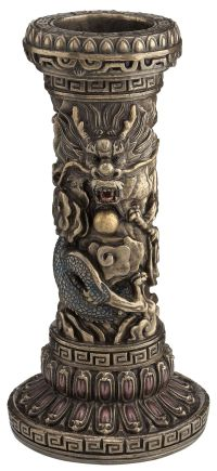 Chinese Dragon Pillar Candle Holder | Oriental | Pinterest ...