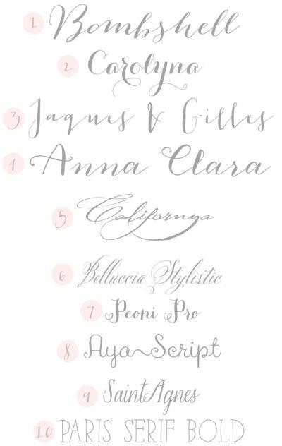 Calligraphy Fonts on Pinterest | Handwritten Fonts ...