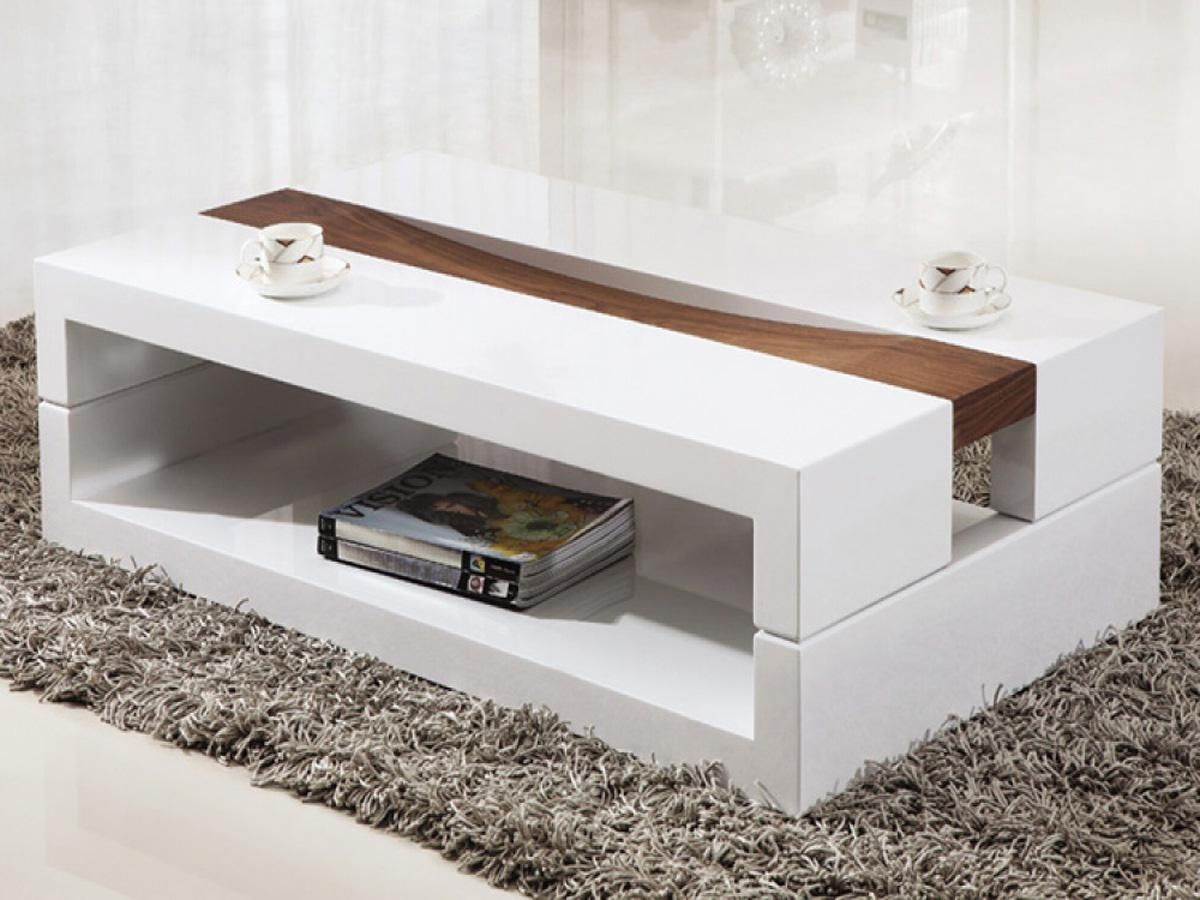 Grey Modern Coffee Table Nice Room Decoration With Rectangle Contemporary Coffee