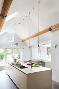 vaulted ceiling lighting ideas skylights mini pendant ...
