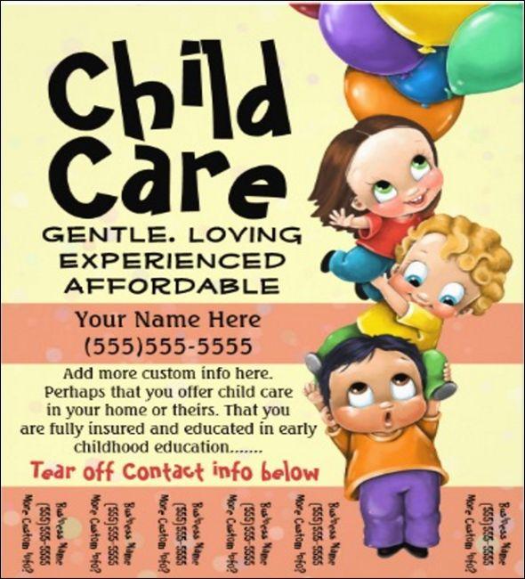 20+Modern Baby Daycare Flyer PSD Mockups ! Daycares, Flyers and - daycare flyer