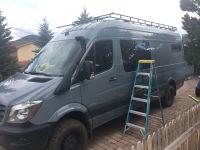 Mercedes 144 Sprinter Van Roof Racks and ladders ...