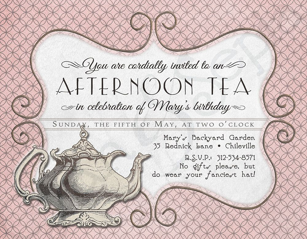 Best 25+ High tea invitations ideas on Pinterest Tea party - business meet and greet invitation wording