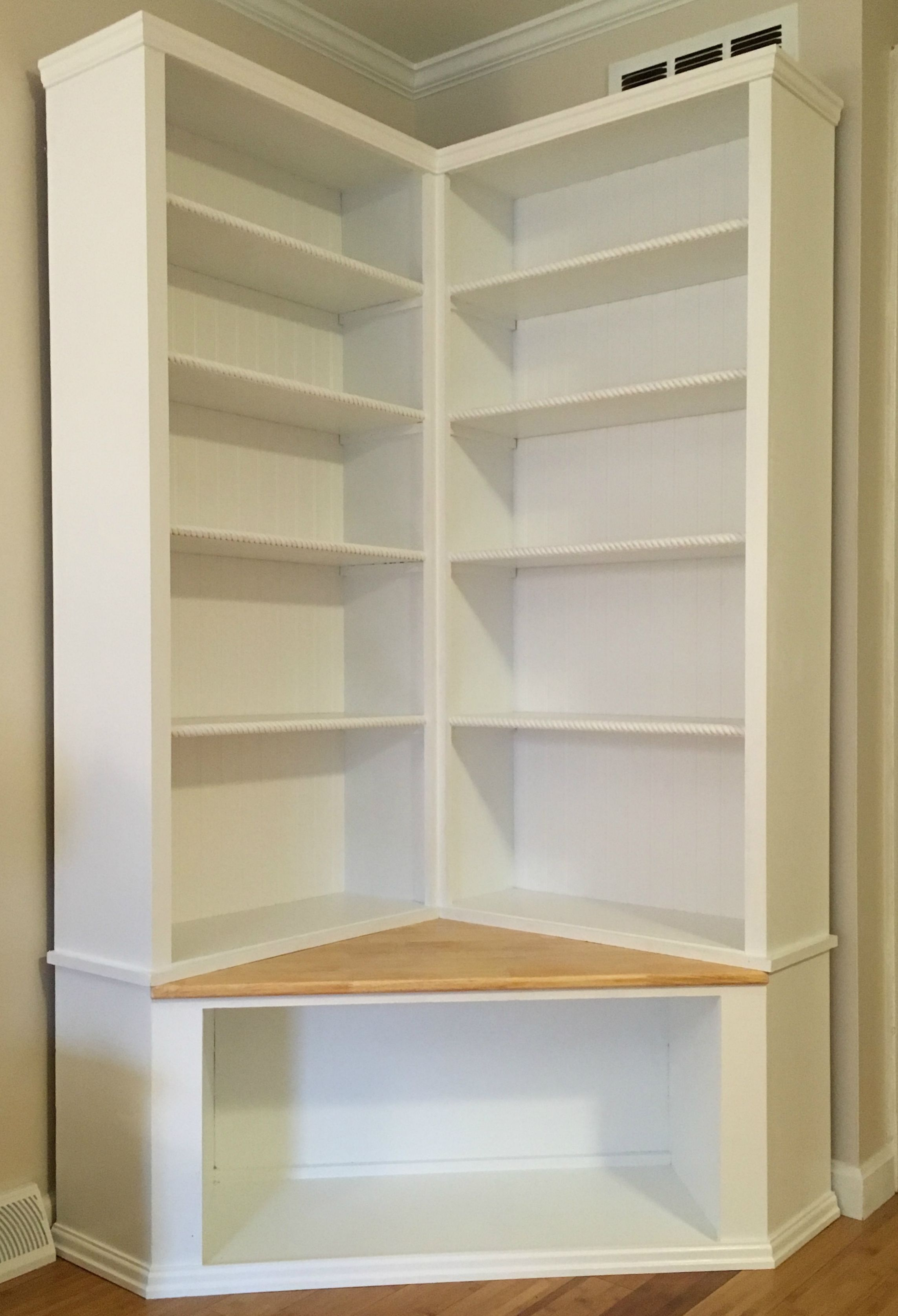 Floor Shelves For Bedroom Custom Made Shabby Chic Corner Bookcase With Seat To