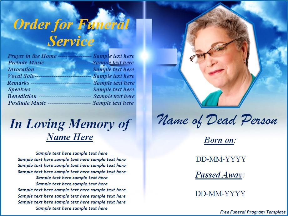 Great video on how to create your own funeral programs by using - program for a funeral