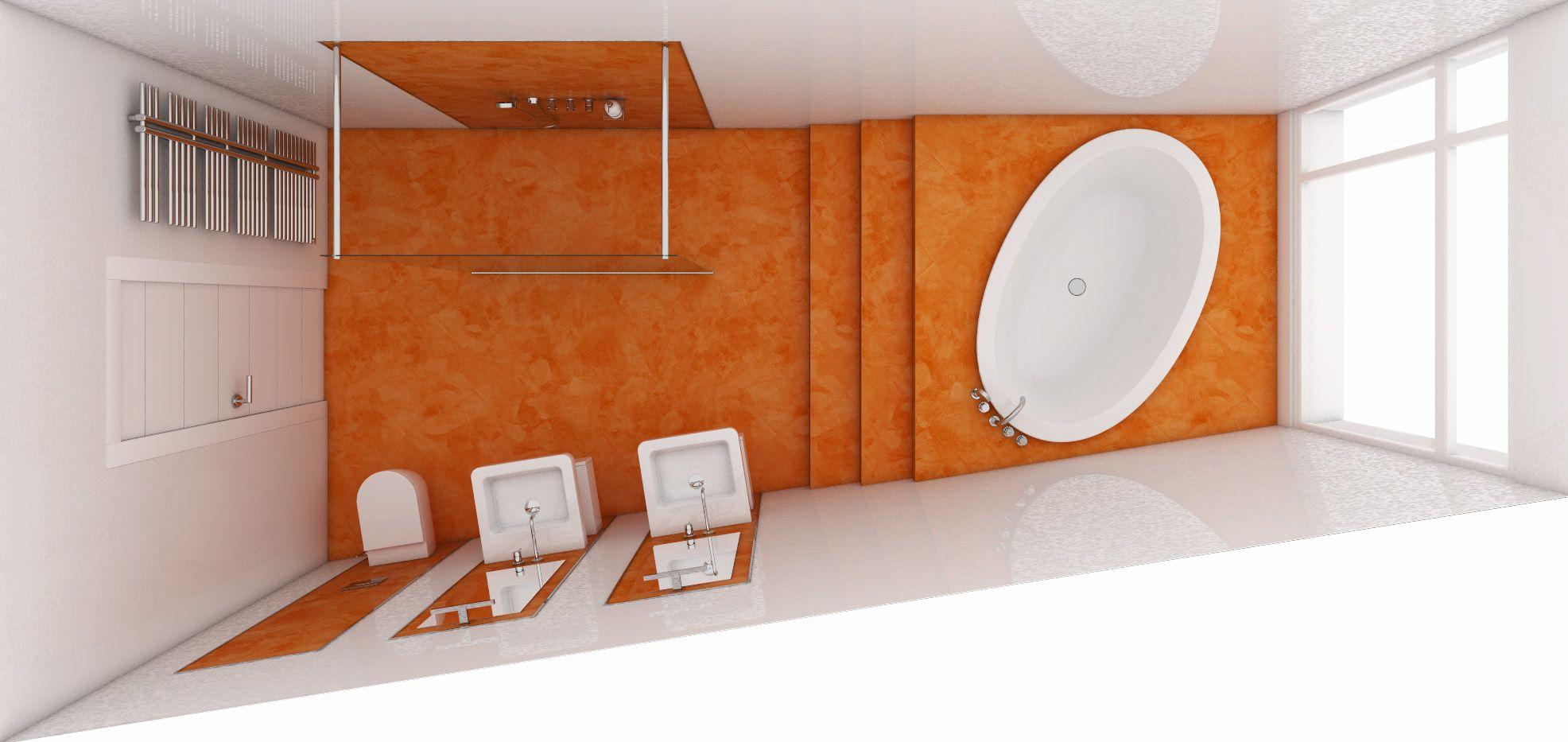 Orange Bathroom Decorating Ideas - Orange bathroom mats for bathroom decorating ideas