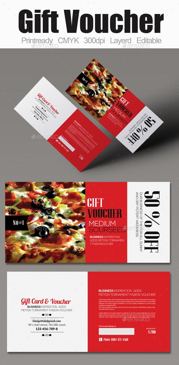 Food #Gift #Voucher - #Cards \ #Invites Print Templates Download - food voucher template