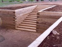 How To Build Wood Retaining Wall Ideas | 25 best ideas ...