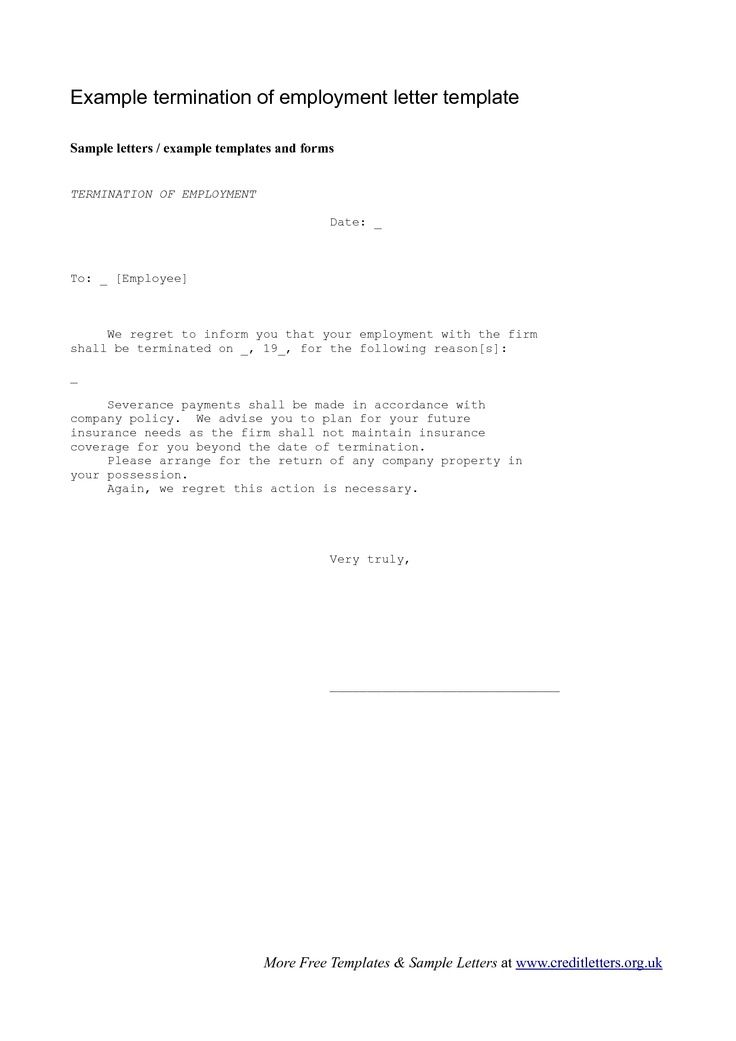 Employee Termination Letter - The Employee Termination Letter is a - job termination letter
