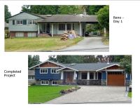 Before and After photos - Renovation of 1960's split-level ...
