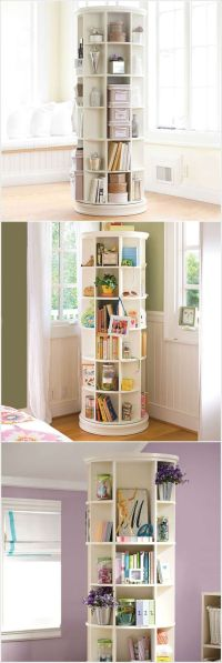 A Revolving Bookcase Loaded with Storage Space...plus more ...