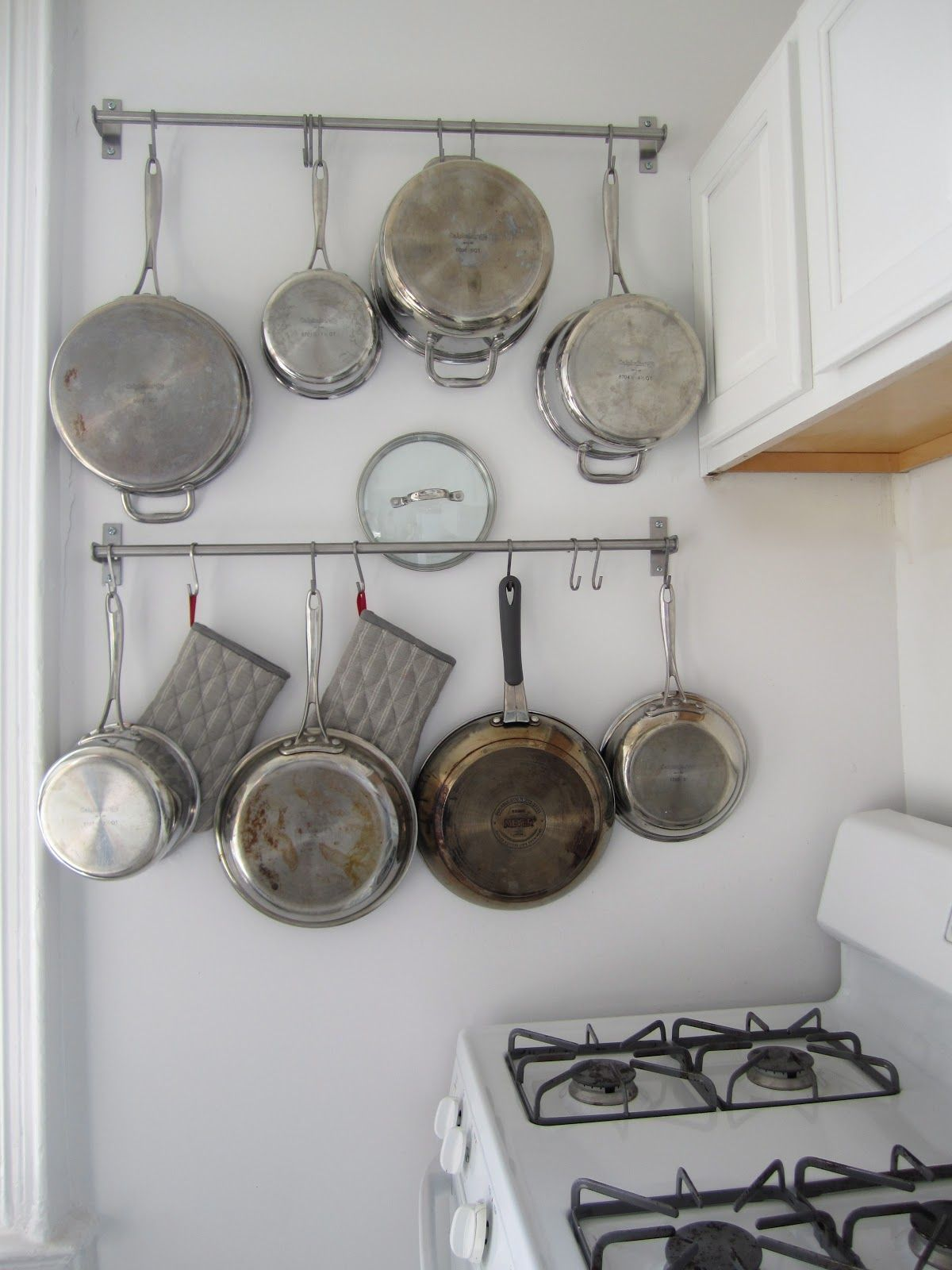 Ikea Pot Hanger Kitchen Ideas For Hanging Pots And Pans 4 Diy