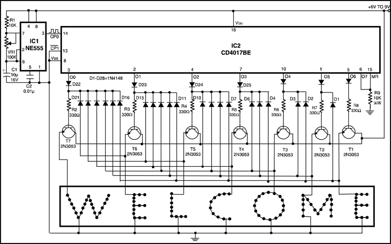 images on an led dot matrix display with software pwm using pic16f877a