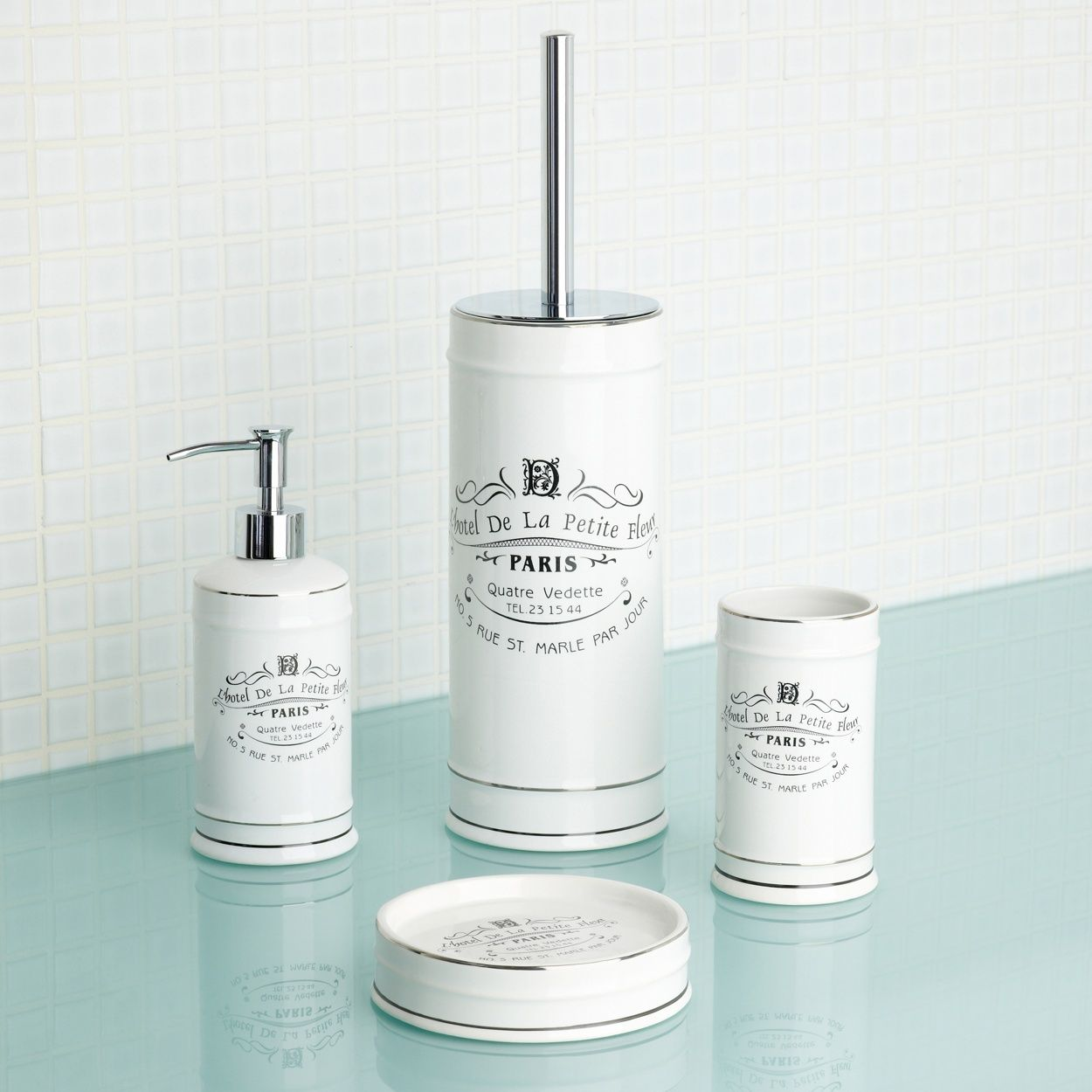 Vintage Bathroom Soap Dispenser Debenhams White Paris Bathroom Accessories At Debenhams
