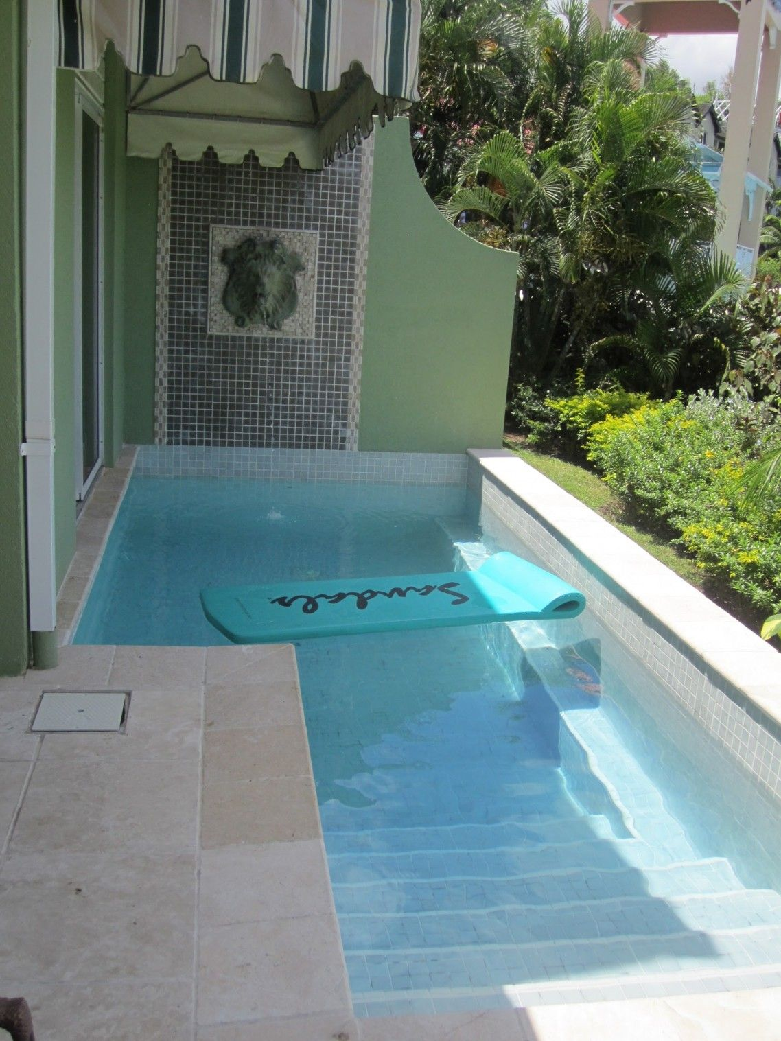 Mini Pool Terrasse Pool Studio With Square Private Plunge In Back Terrace And