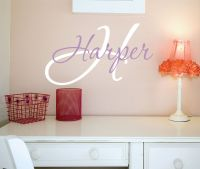 Wall Decals Nursery - Name Wall Decal - Girls Name Vinyl ...