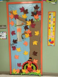 Classroom door decoration fall decoracin de puerta otoo ...