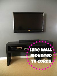Decorating Cents: Wall Mounted TV and Hiding The Cords ...