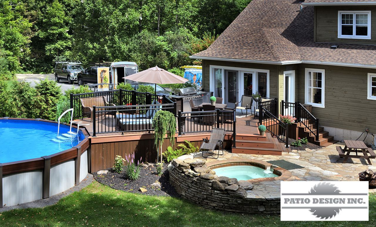 Terrasse Patio Terrasse En Trex Swimming Pool Decks Pinterest Terrasse