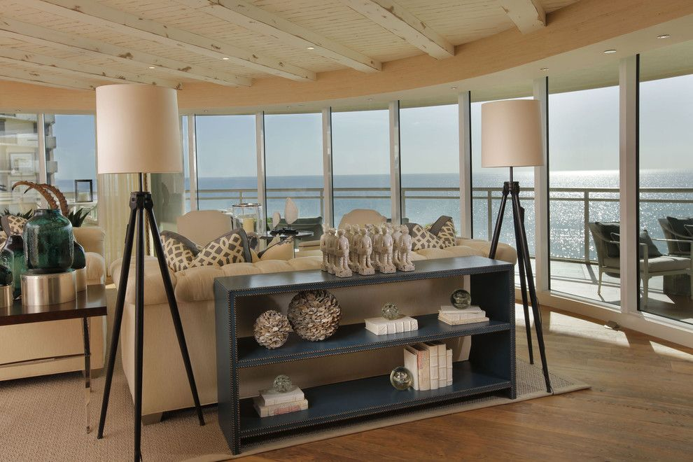 Cheap Console Table decorating ideas Living Room Beach design - cheap table lamps for living room