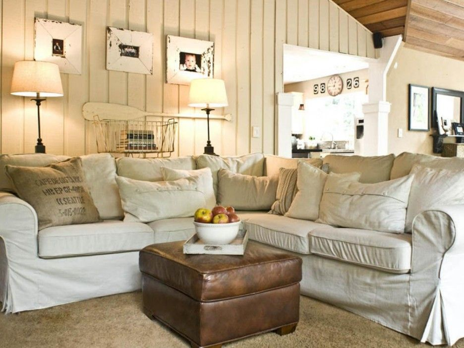 Awesome rustic cottage living room deccoration ideas with cream - country living room sets