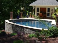 Pool Design Ideas - good for a sloping yard- would be ...