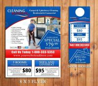 Carpet Cleaning Door Hanger & Flyer Design - Done in 24hrs ...