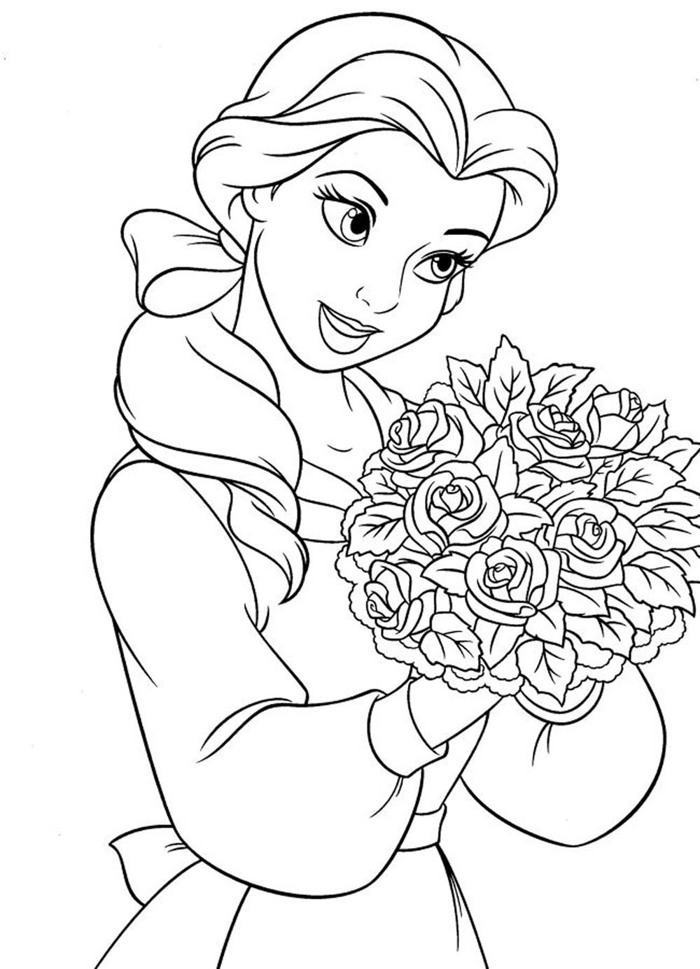 Disney princess coloring book disney coloring and belle