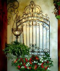 TUSCAN Garden Gate WALL GRILLE PANEL Metal Art Grill ...