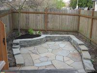 Flagstone patio with retaining wall | Yard | Pinterest ...