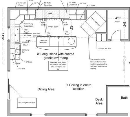 best kitchen layouts - Google Search Kitchens Pinterest - kitchen cabinet layout designer