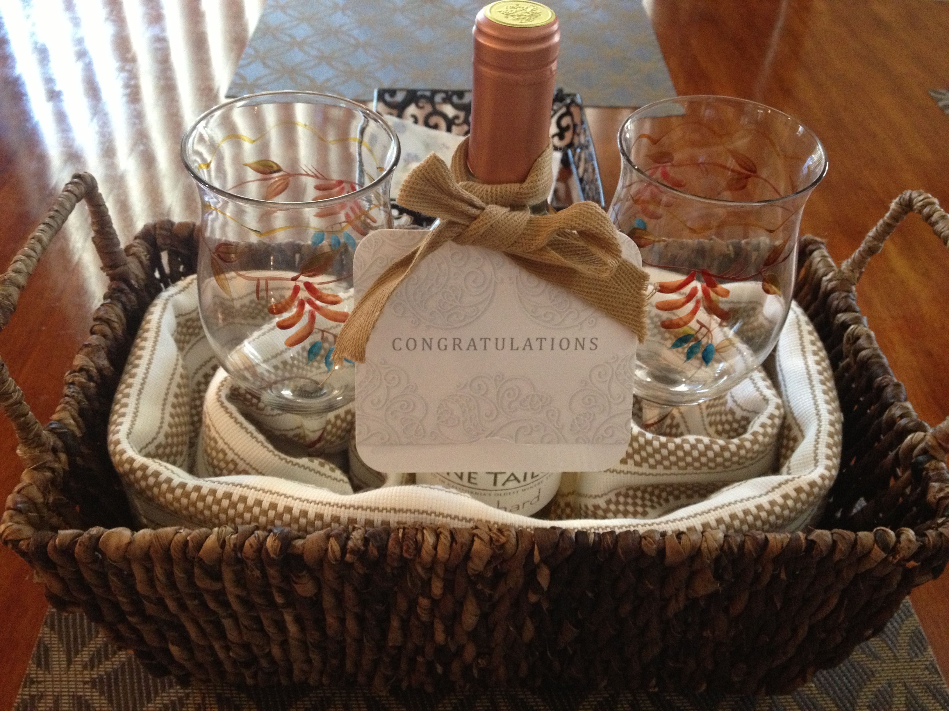 Homemade Housewarming Gift Ideas Diy House Warming Gift Wicker Basket Kitchen Towels 2